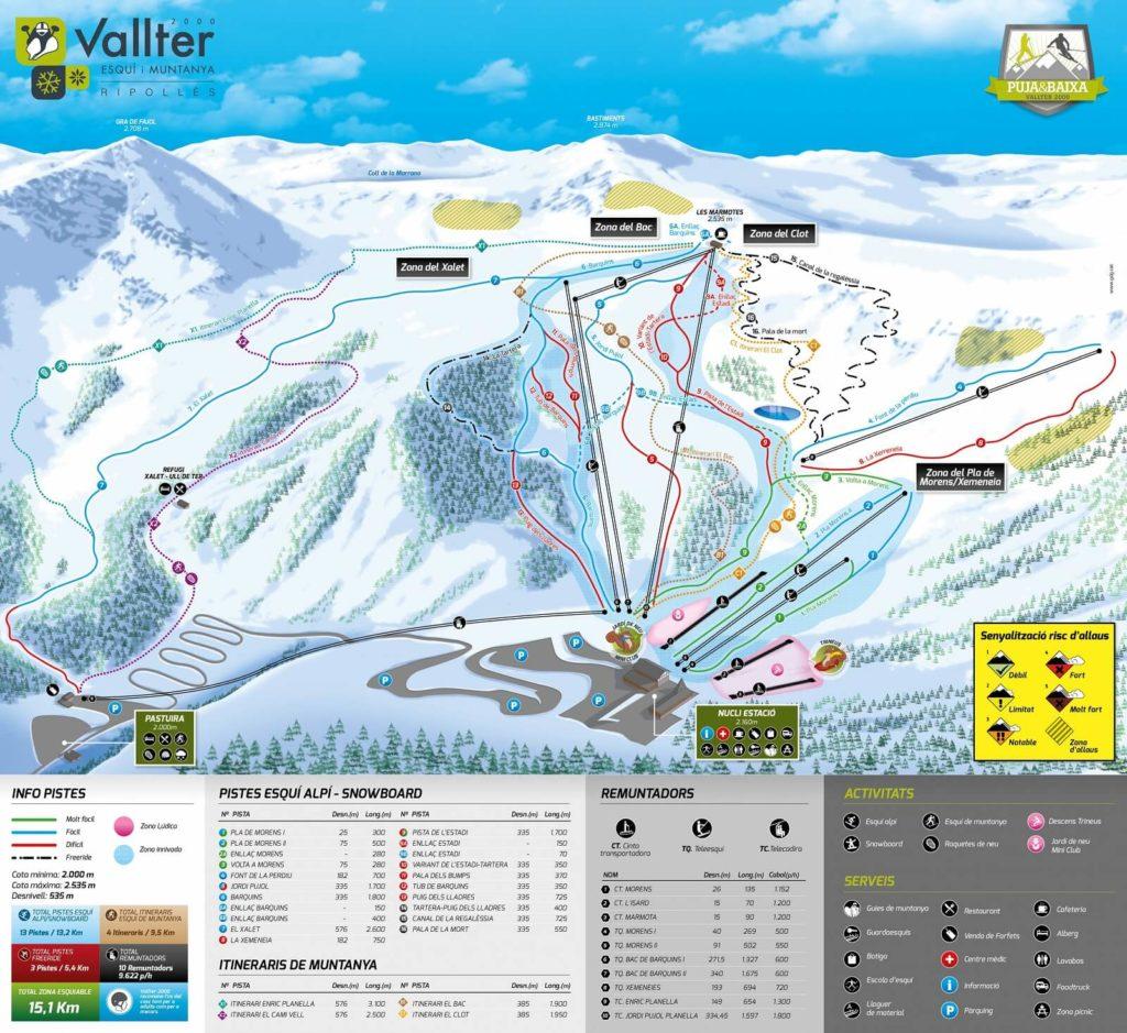 mapa pistgas vallter 2000